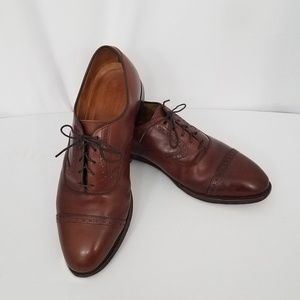 Johnston & Murphy Heritage Cap Toe Brown Lace up